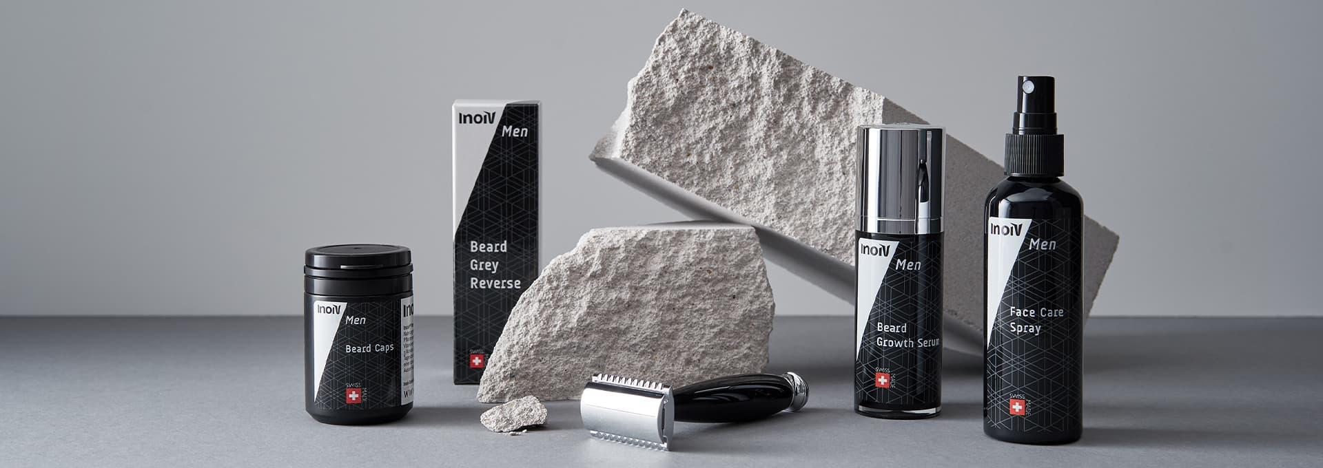 Inoiv Men - Optimale Haar- und Bartpflege für Männer inkl. Bartwuchsmittel