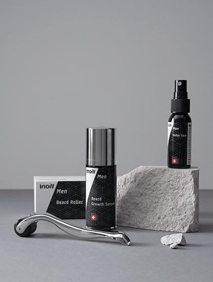 Inoiv Men - Set de croissance de la barbe - Pour une croissance saine des barbes