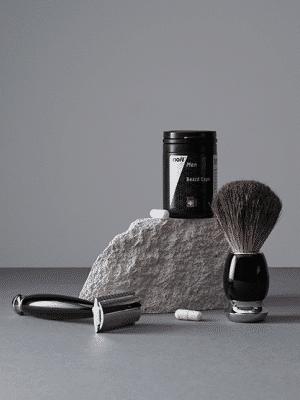 Inoiv Men - Set de croissance de la barbe - Maximise la densité et l'épaisseur des barbes