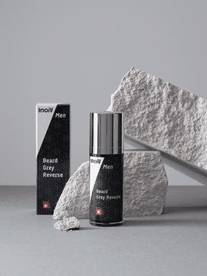 Inoiv Men - Beard Grey Reverse - Contient uniquement des ingrédients naturels
