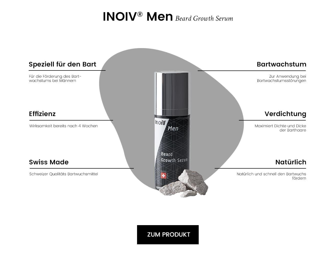 Inoiv Men - Beard Growth Serum - Eigenschaften und Wirkung